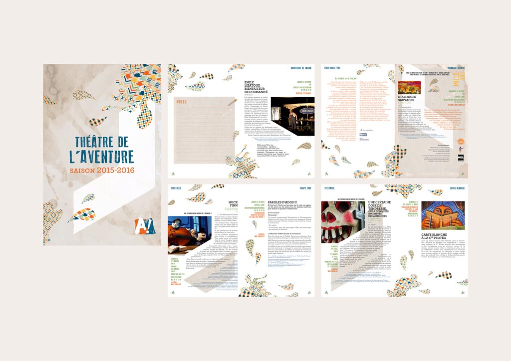 brochure de saison (32 pages – 13 x 20 cm – 2015)