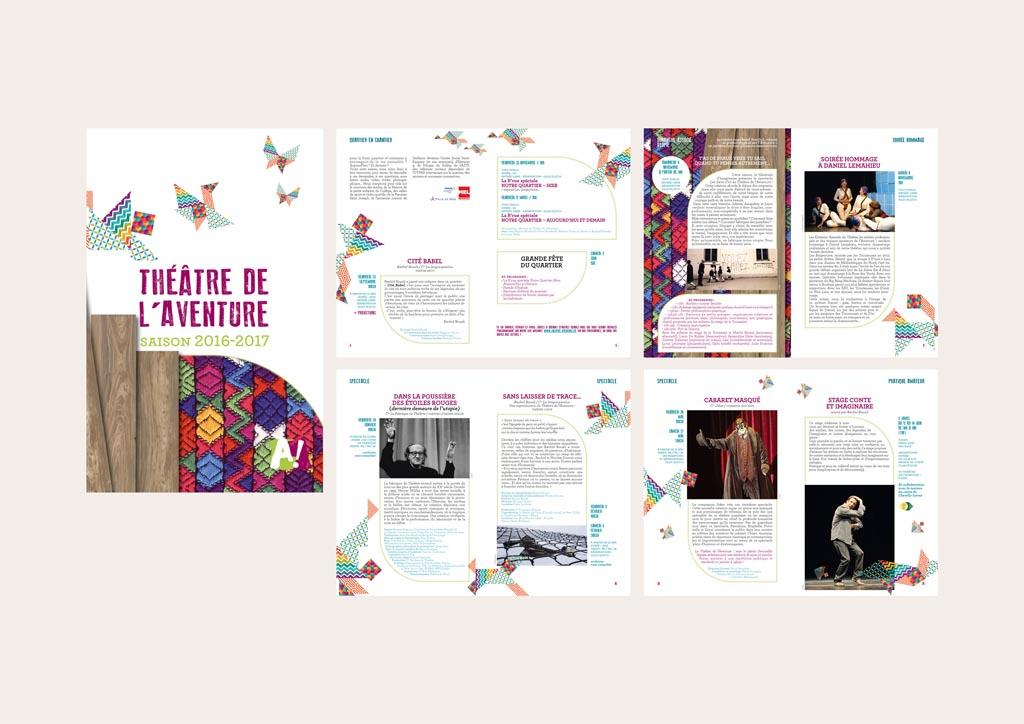brochure de saison (32 pages – 13 x 20 cm – 2016)
