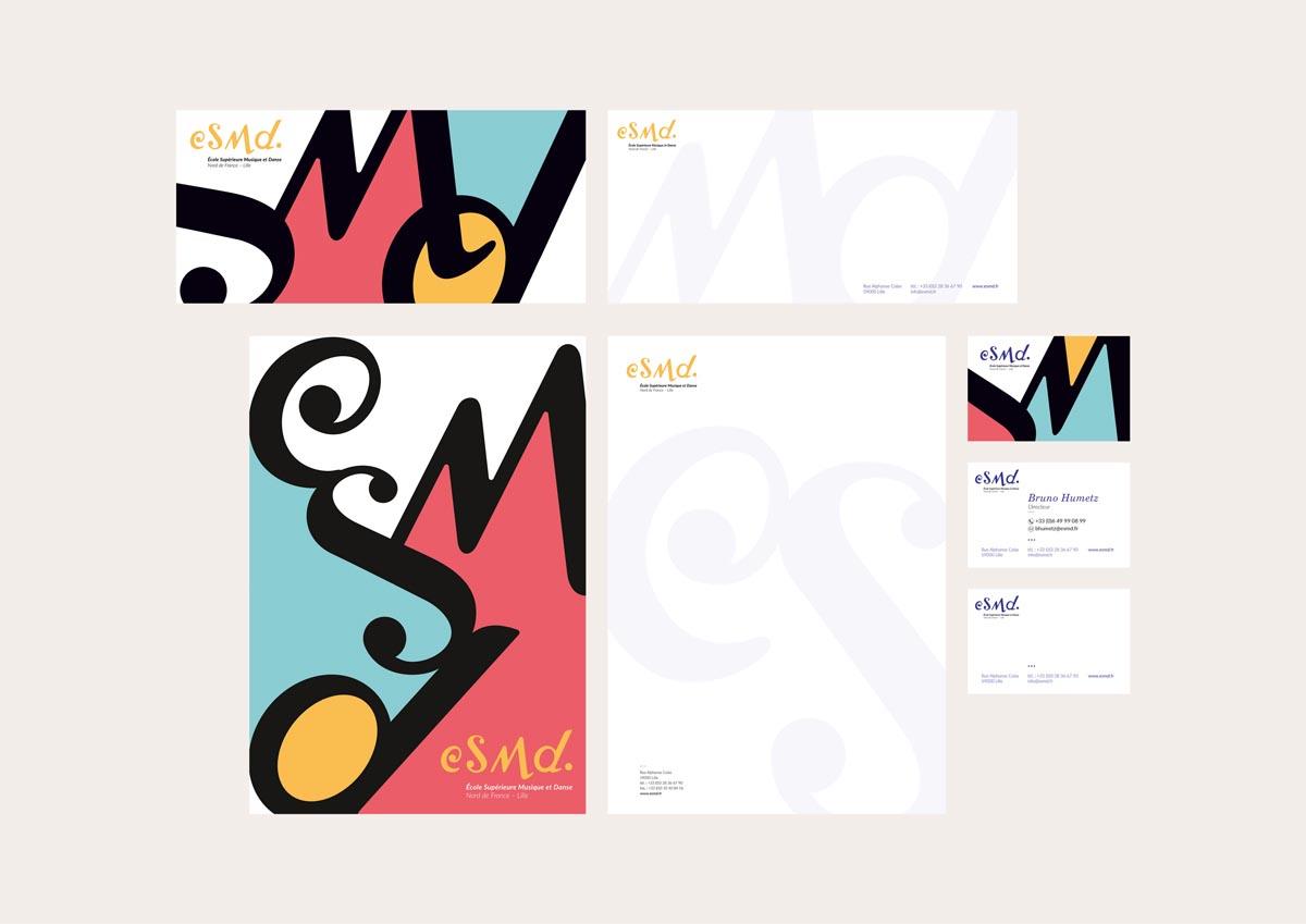 identité visuelle – pochette / papier en-tête / carte de visite / carte de correspondance (2016)