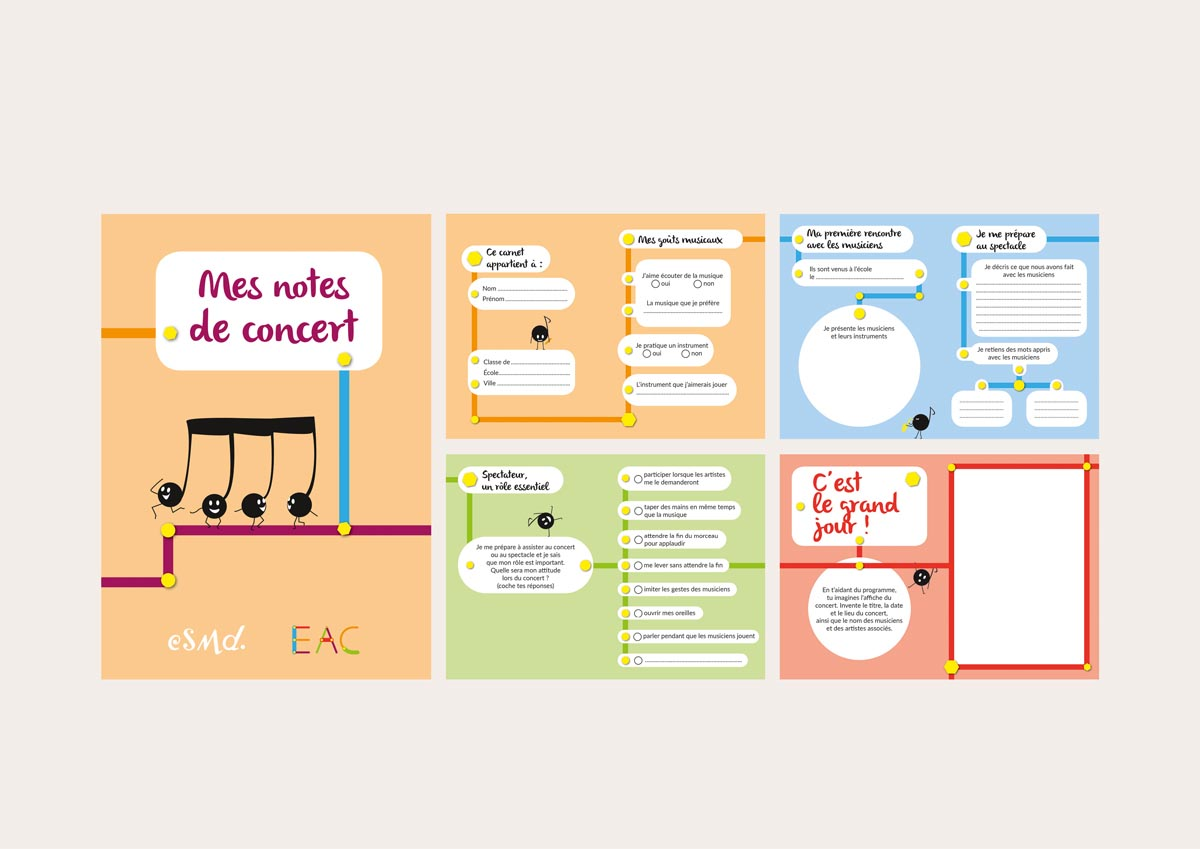 livret Mes notes de concert (16 pages – 10,5 x 14,8 cm – 2016)