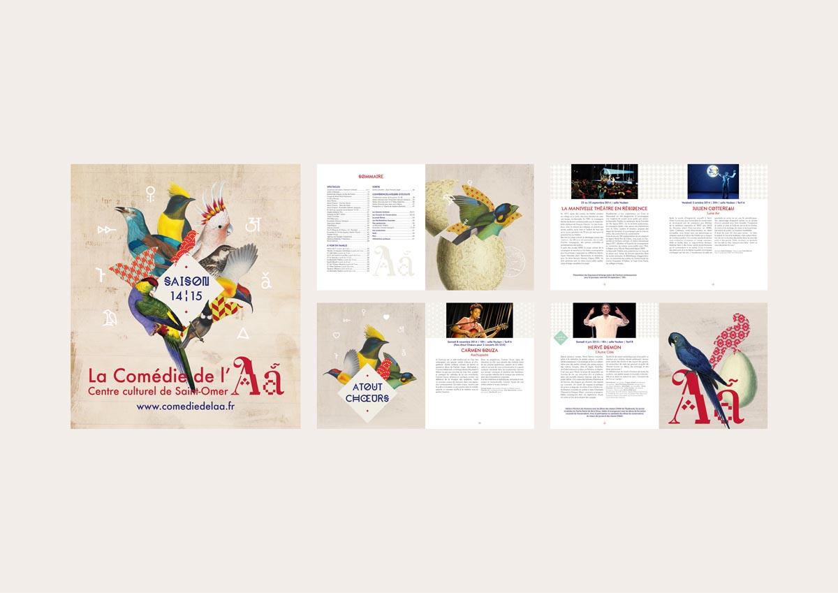 brochure de saison (64 pages – 14,5 x 21 cm – 2015)