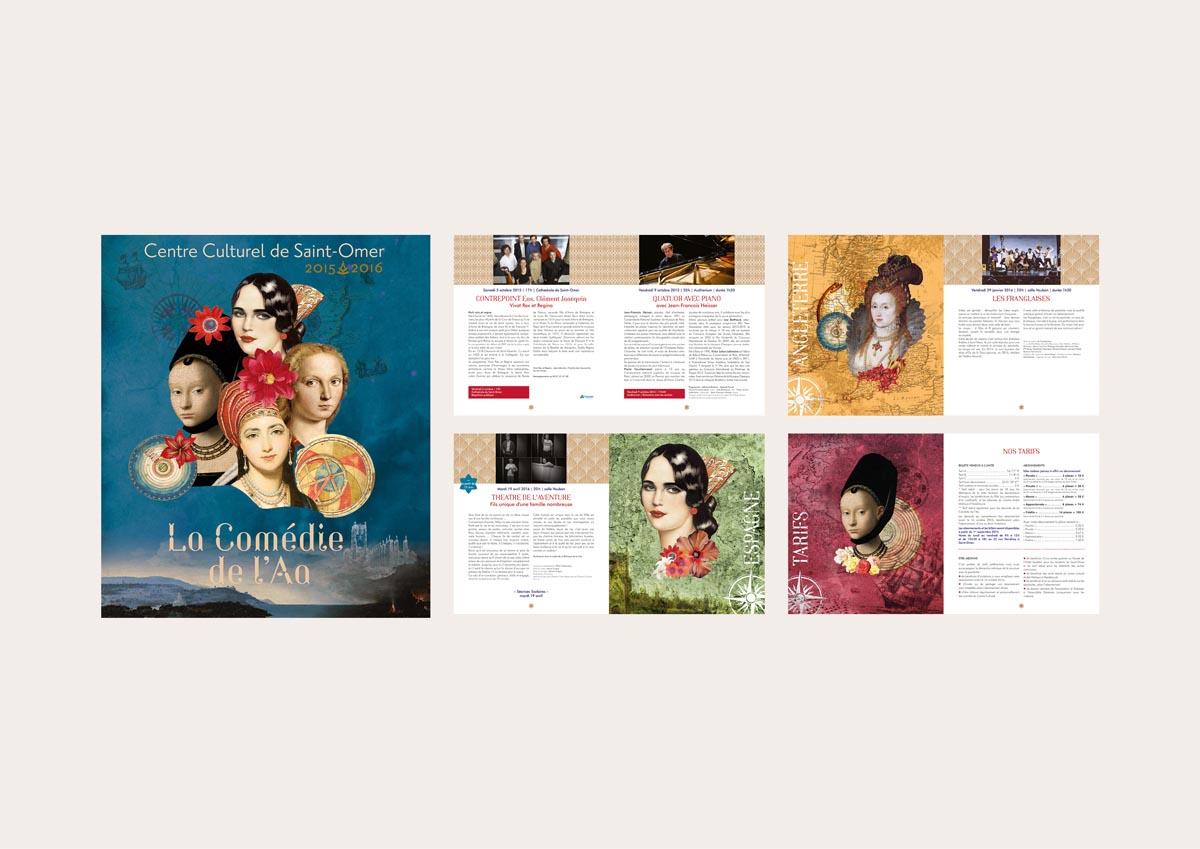 brochure de saison (64 pages – 14,5 x 21 cm – 2016)