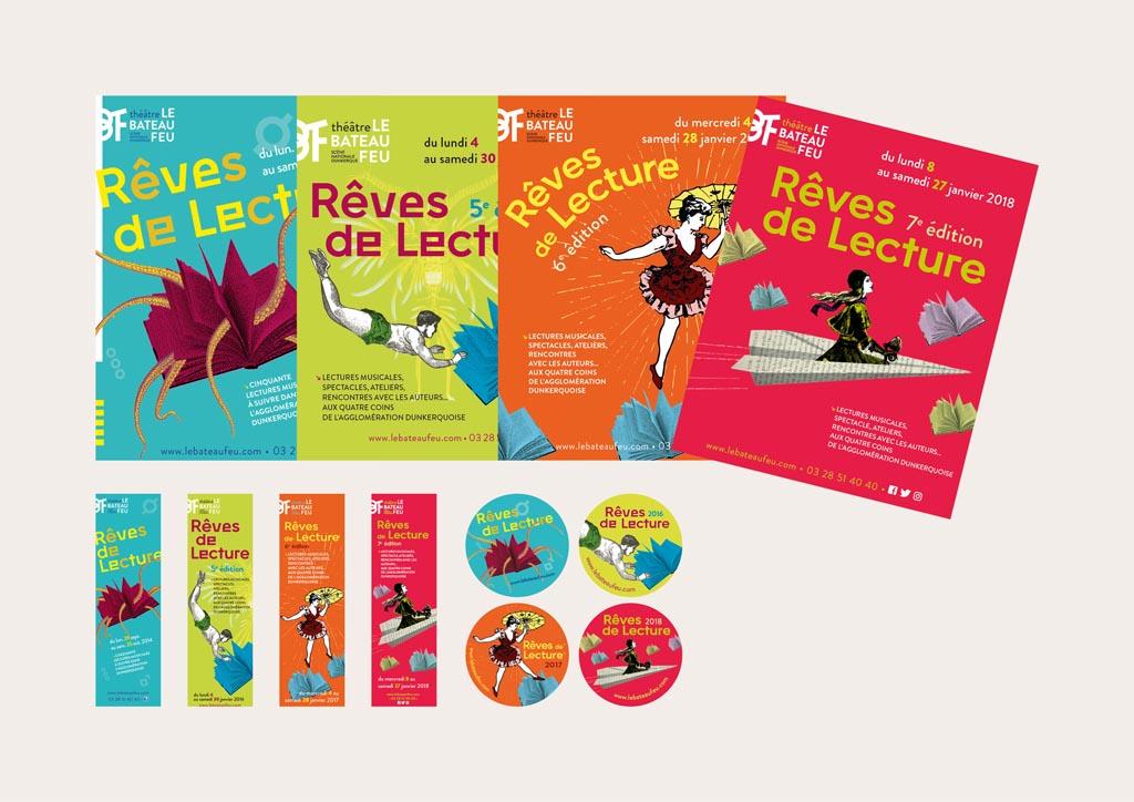 programme Rêve de lecture (16 pages – 15 x 19 cm) – marque page, stickers et badges