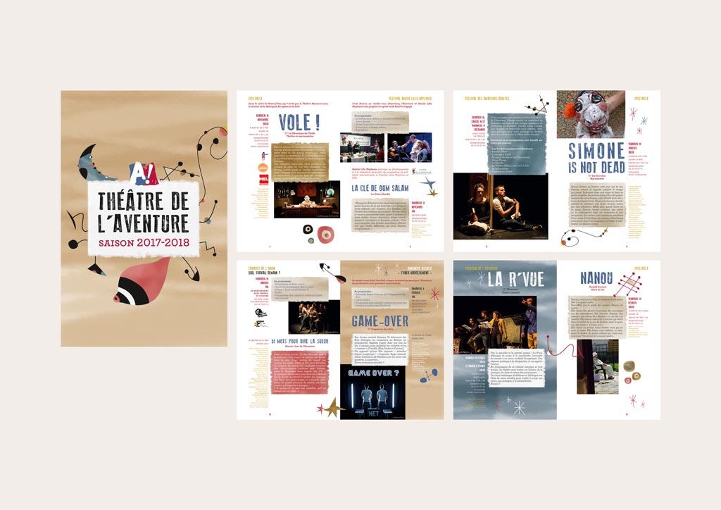 brochure de saison (20 pages – 13 x 20 cm – 2017)