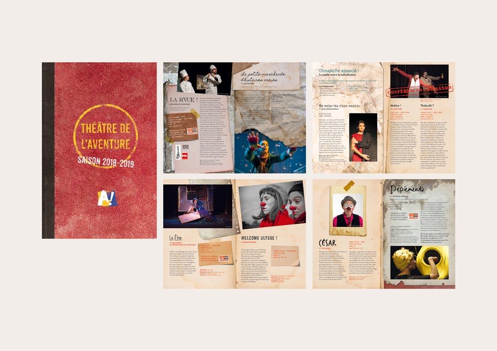 brochure de saison (20 pages – 13 x 20 cm – 2018)